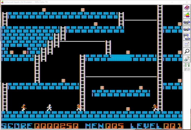apple ii /e 的一个游戏 Lode Runner 的简单分析。