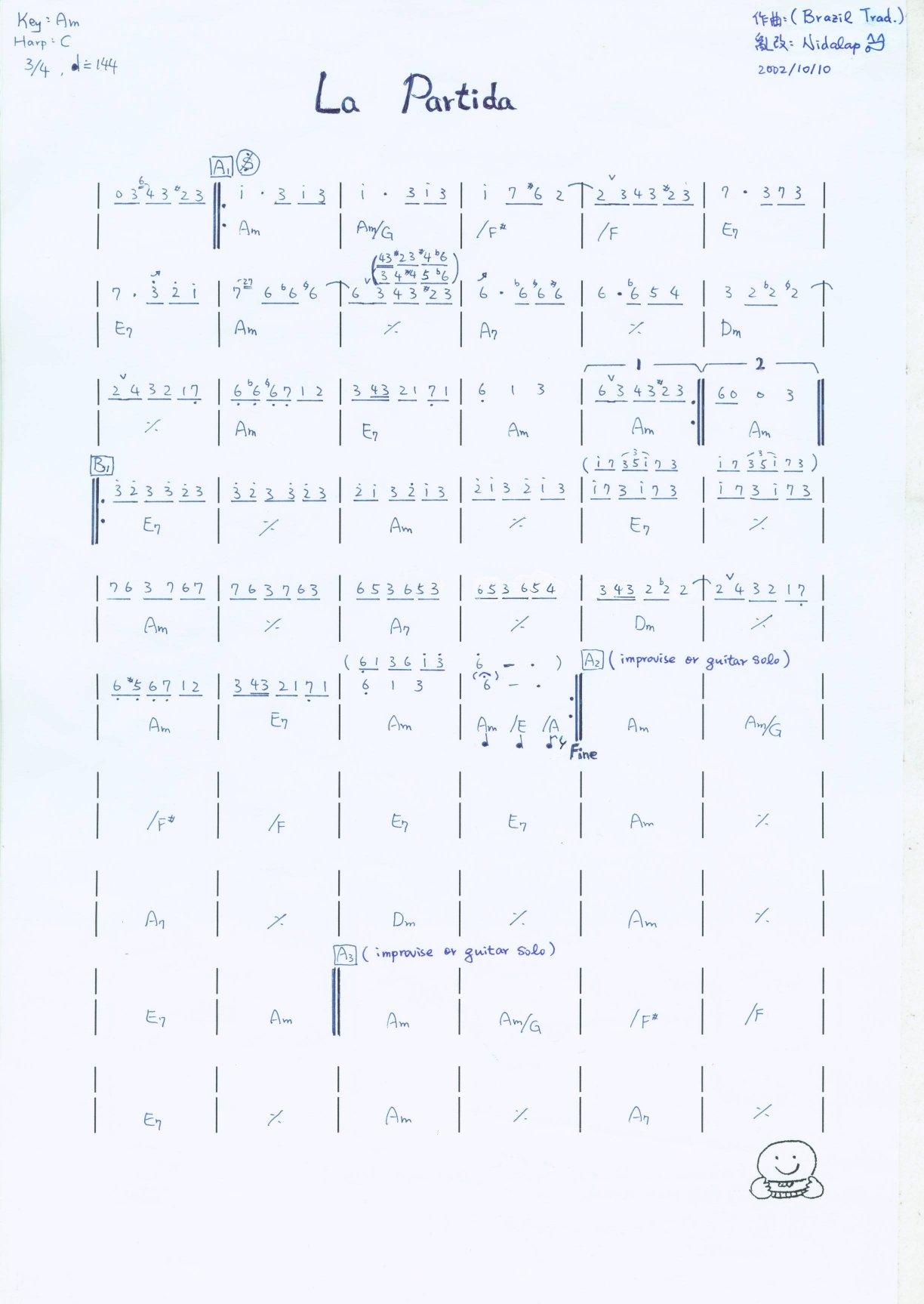 一个手记简谱,翻资料发现的,正好用一用。